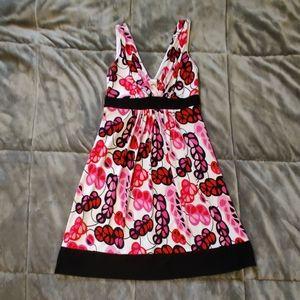 B. Darlin pink/black/red/white design dress 5/6